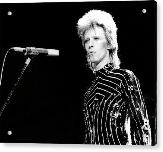 Ziggy Stardust Era Bowie In La Acrylic Print by Michael Ochs Archives