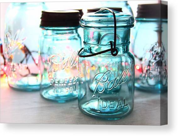 Mason Jar Canvas Prints Fine Art America