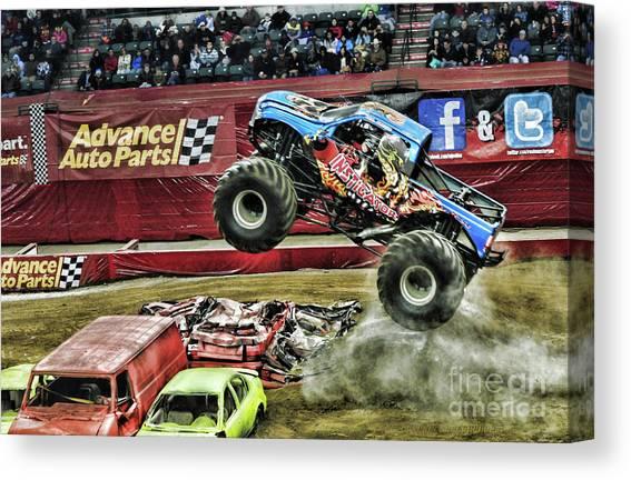 Monster Jam Canvas Prints Fine Art America