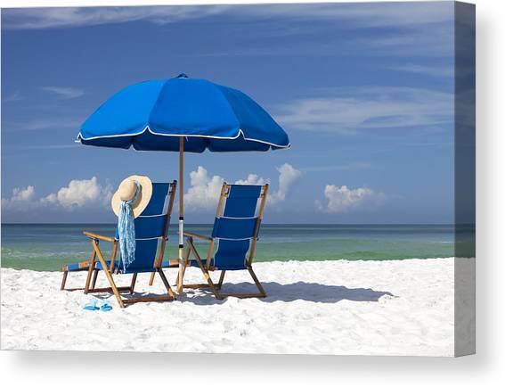 Beach Umbrella Canvas Prints Fine Art America