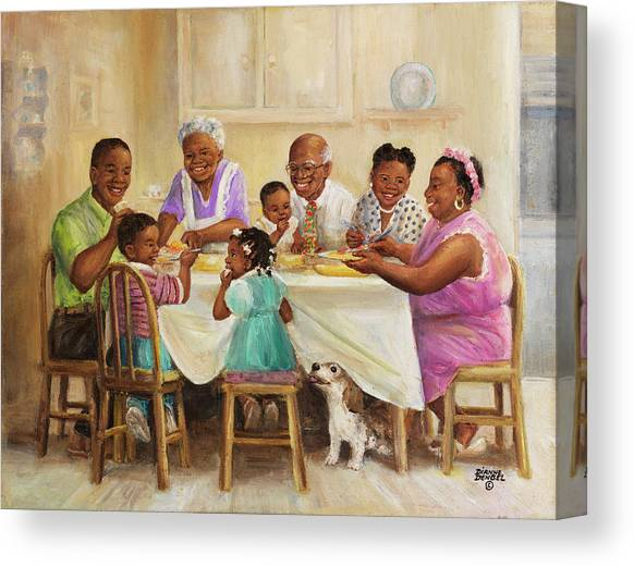 Wall Art Canvas Wall Art,Home Decor Art Canvas Art Canvas Painting,Abstract Art Family Bond African American Art