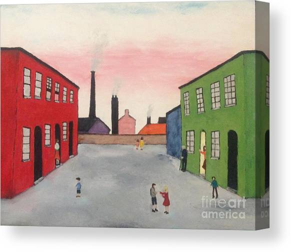 Lowry  Kids Playing Canvas Wall Art Picture Print L.S