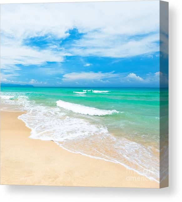 Beach Starfish Seascape Bathroom SINGLE CANVAS WALL ART Picture Print VA