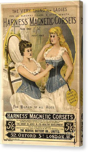 1890s Uk Corsets Girdles Magnetic Canvas Print by The Advertising Archives