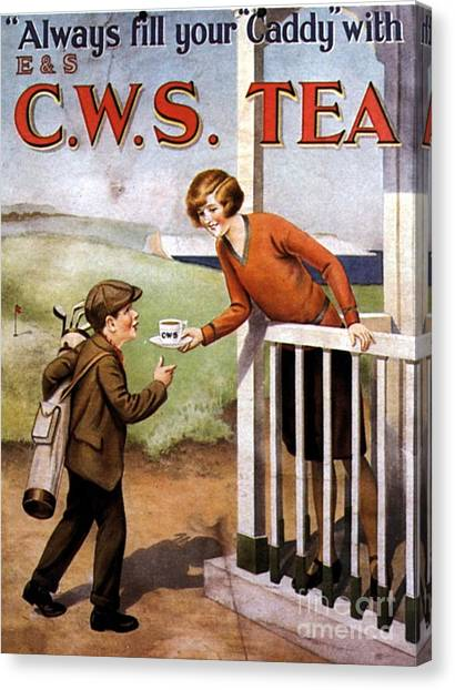 1920s Uk Tea Golf Cws Canvas Print by The Advertising Archives