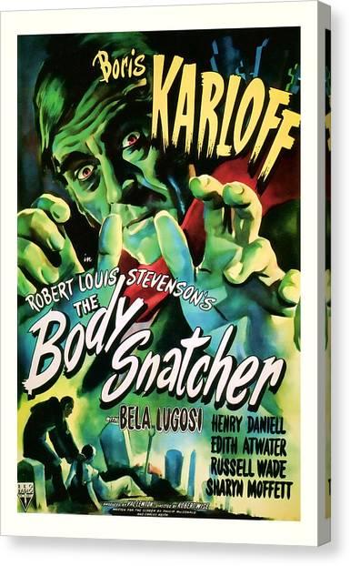 1945 The Body Snatchers Vintage Movie Art Canvas Print