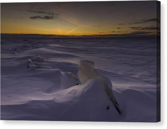 -25 Freezing Sunset Canvas Print