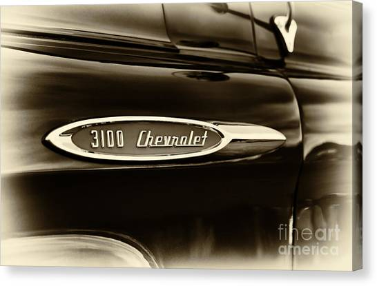 Front End Canvas Print -  3100 Chevrolet Truck Sepia by Tim Gainey