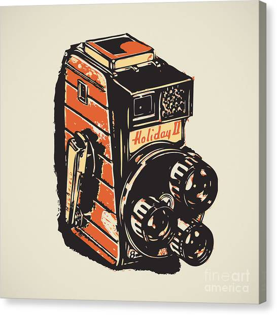 8mm Vintage Camera Canvas Print