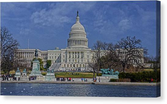 A Capitol Day Canvas Print