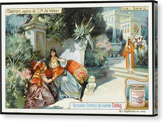 Garden Scene Canvas Print -  Act One, Scene Twelve  In The  Garden by Mary Evans Picture Library