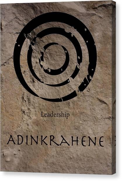 Adinkra Adinkrahene Canvas Print