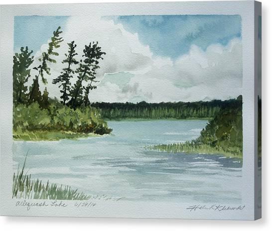 University Of Wisconsin - Madison Canvas Print -  Allequash Lake by Helen Klebesadel