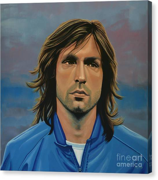 Goal Canvas Print -  Andrea Pirlo by Paul Meijering