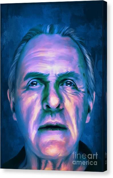 Anthony Hopkins Canvas Print -  Anthony by Andrzej Szczerski