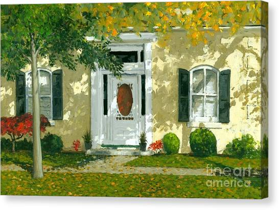 Artist Michael Swanson Canvas Print -  Autumn Sunlight by Michael Swanson