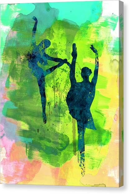 Costume Canvas Print -  Ballet Watercolor 1 by Naxart Studio