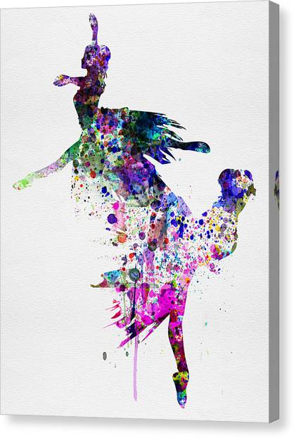 Ballerina Canvas Print -  Ballet Watercolor 3 by Naxart Studio