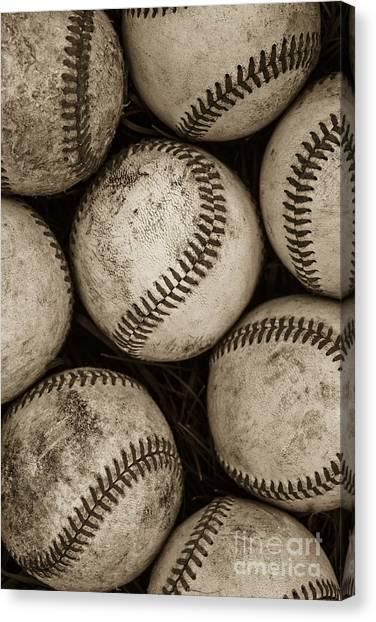 Sport Canvas Print -  Baseballs by Diane Diederich