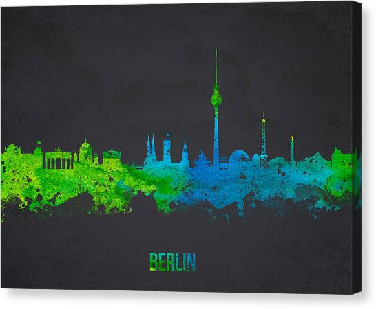 European City Canvas Print -  Berlin Germany by Aged Pixel