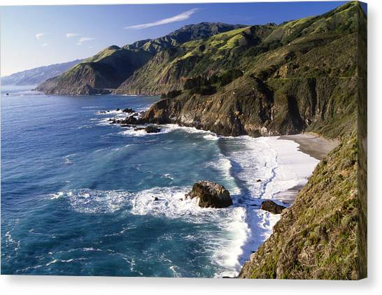 Cliffs Canvas Print -  Big Sur At Big Creek by George Oze