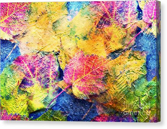 Bright- Colorful Fall Leave Abstract Canvas Print