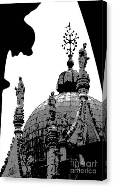 Byzantine Dome Canvas Print by Jacqueline M Lewis