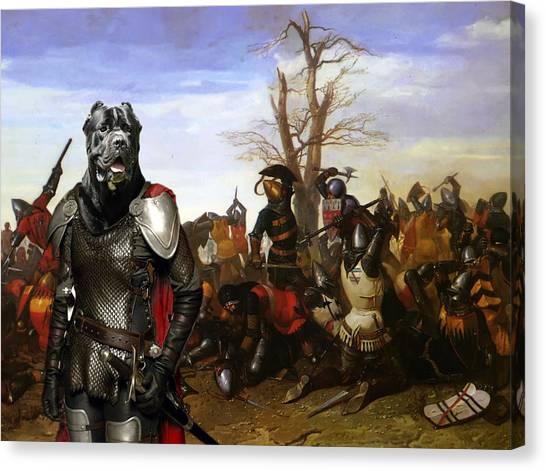 Cane Corso Art Canvas Print - Swords And Bravery Canvas Print