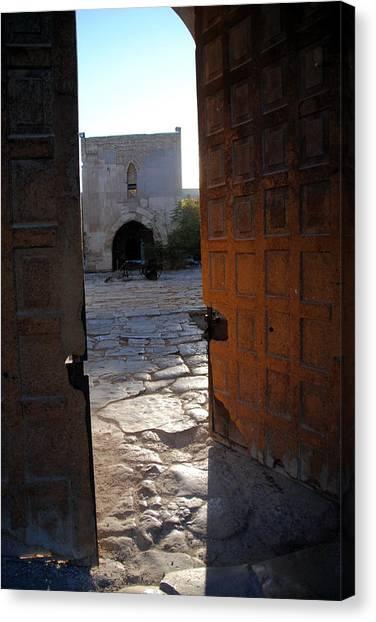 Caravanserais Central Gate - Anatolia Canvas Print by Jacqueline M Lewis