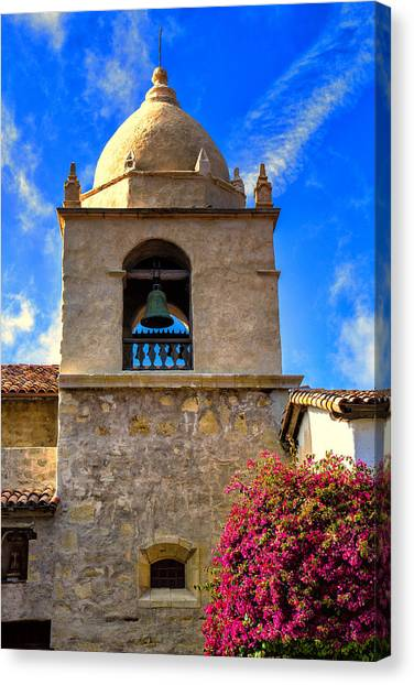 Missions California Canvas Print -  Carmel Mission by Garry Gay