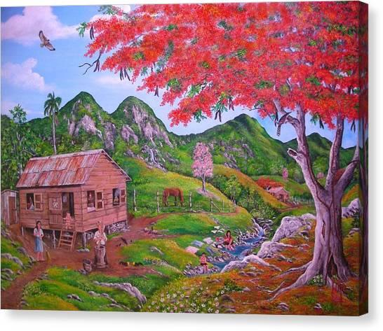 Casita De Campo Canvas Print by Jose Lugo
