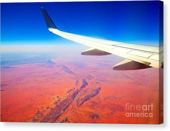 Central Australia From The Air  Canvas Print