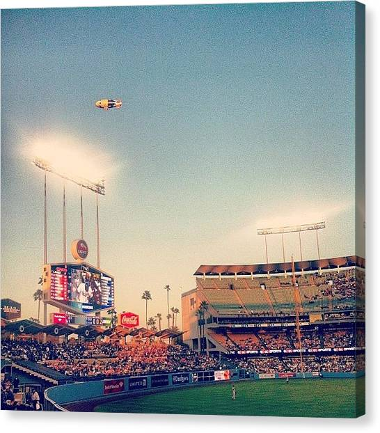 World Cup Canvas Print - Dodgers Stadium Sunset by Cesar Ochoa