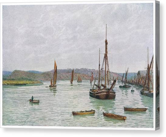 Chatham Canvas Print -  Chatham, Kent  Looking Down The Medway by Mary Evans Picture Library