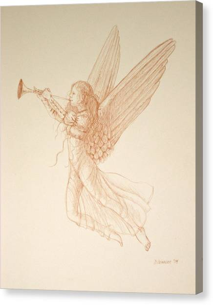 Angel With Trumpet Canvas Print