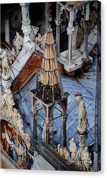 Close-up Of Basilica  Canvas Print by Jacqueline M Lewis