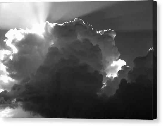 Clouds 1 Bw Canvas Print by Maxwell Amaro