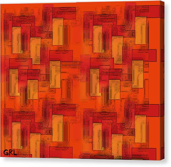 Canvas Print featuring the painting  Color Of Red V Contemporary Digital Art by G Linsenmayer