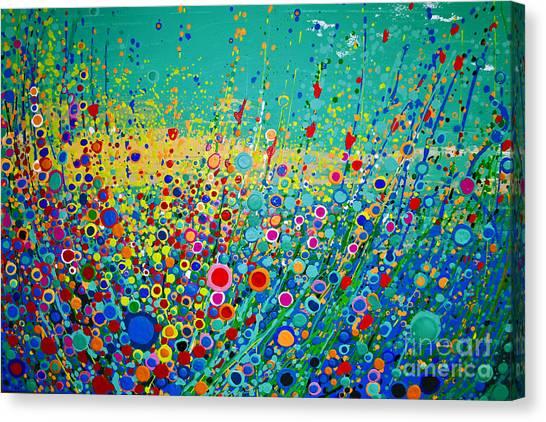 Colorful Flowerscape Canvas Print