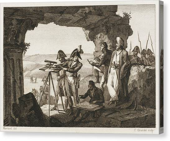Comte Andreossi Surveys  Antique Sites Canvas Print by Mary Evans Picture Library