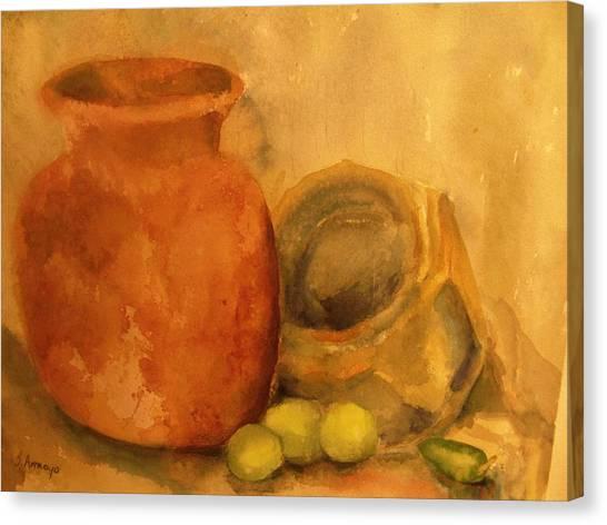 Crock  Pots Canvas Print