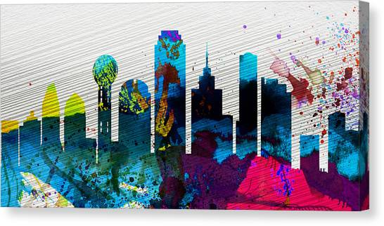 Dallas Canvas Print -  Dallas City Skyline by Naxart Studio