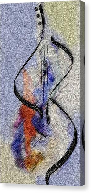 Dancing Guitar Canvas Print