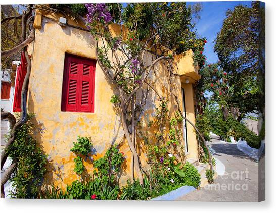 Decorated House With Plants Canvas Print