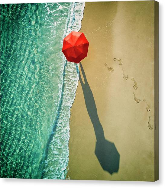 Umbrella Canvas Print - . Deep Water . by