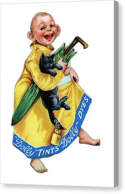 Dye Canvas Print -  Dolly Dyes And Tints         Date Late by Mary Evans Picture Library