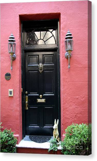 Canvas Print -  Door Oldtown Charleston by Christiane Schulze Art And Photography