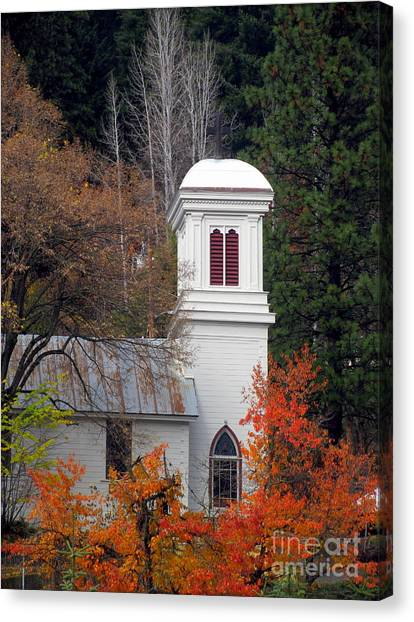 Downieville Church Canvas Print