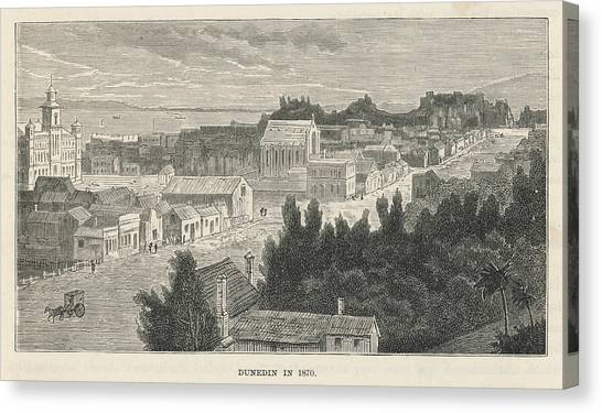 Dunedin  General View        Date 1870 Canvas Print by Mary Evans Picture Library