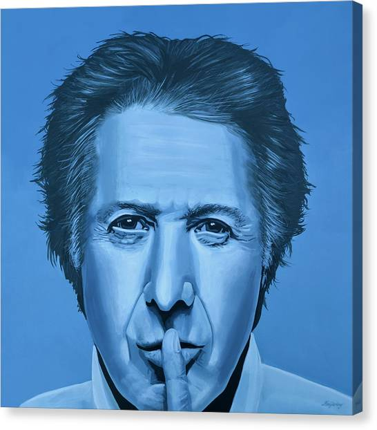 Graduation Canvas Print -  Dustin Hoffman Painting by Paul Meijering